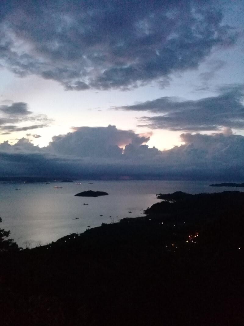 panorama menjelang malam