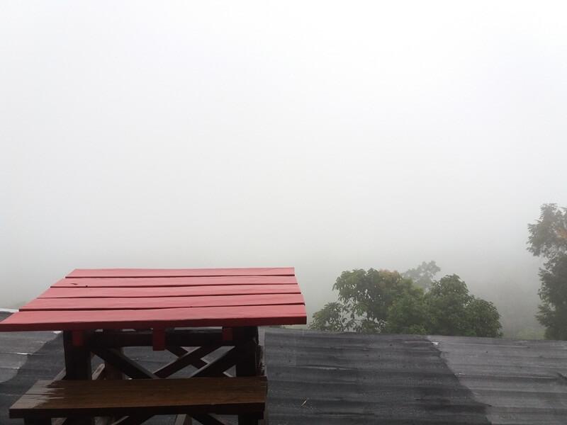 panorama tertutup kabut