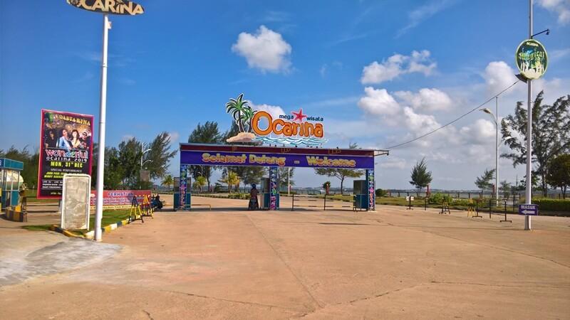 pintu masuk mega wisata ocarina batam