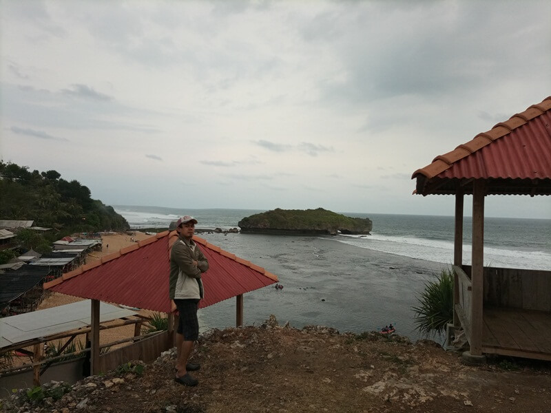 panorama dari atas bukit