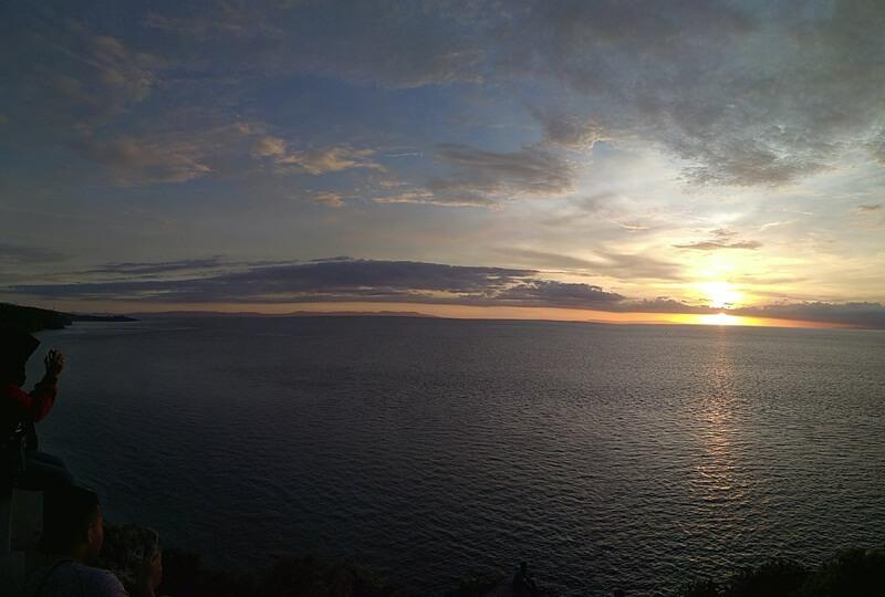 sunset di pantai setangi