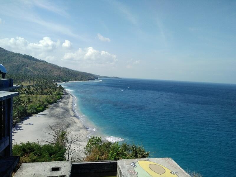 view pantai setangi dari ketinggian
