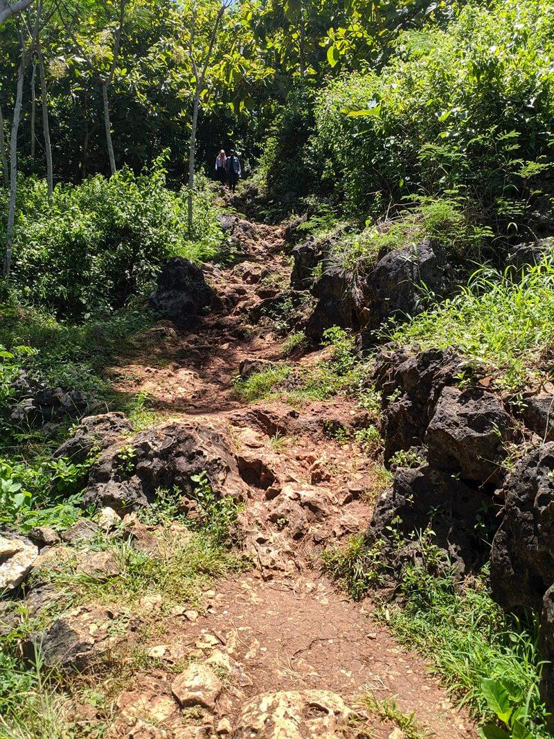 trekking menuju pantai wohkudu