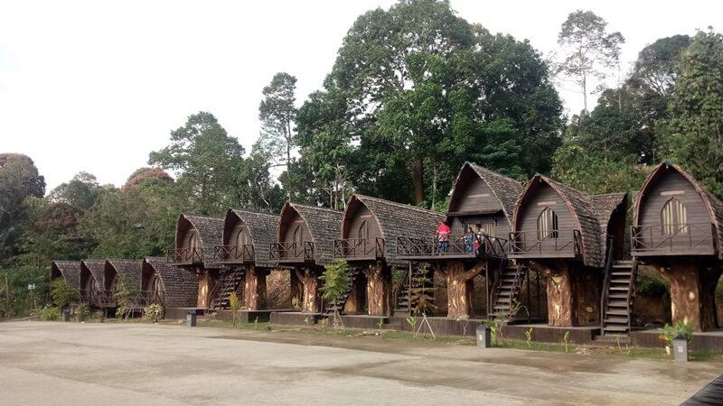mengunjungi rumah adat