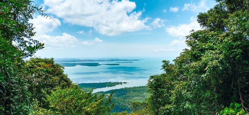panorama alam gunung bintan