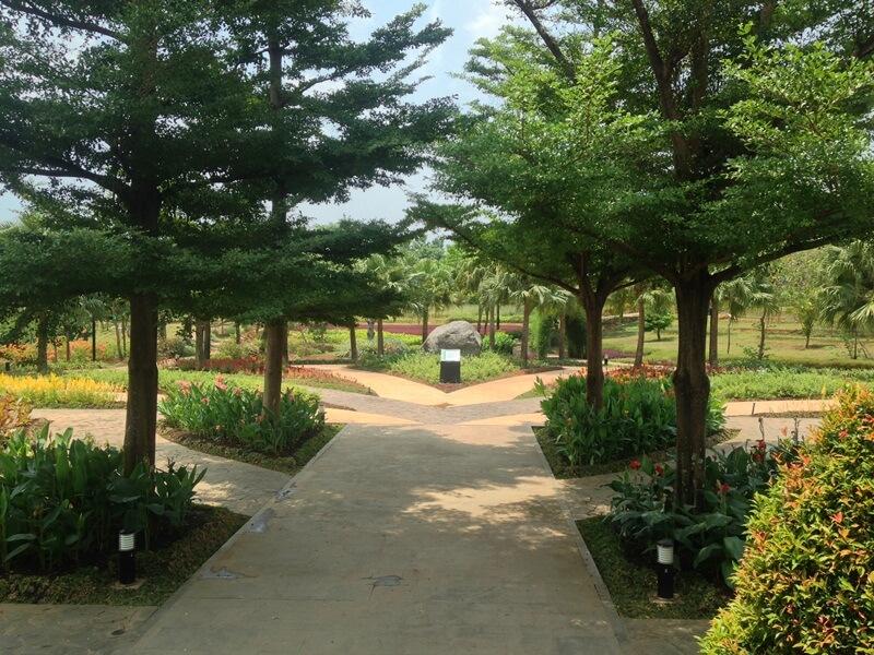 taman yang asri dan adem